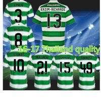 Rugby Men Polyester The celtics clothing shirt blue and white shirt. 2016 2017 quality embroidery