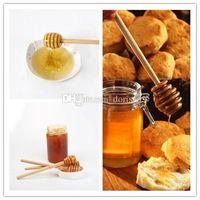 Wholesale Best Wooden Honey stick Dippers stir Honey rod Honey dipper cm cm kitchen tool free DHL