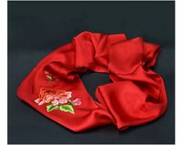 antique chinese embroidery - Brand New Chinese Shu Embroidery Scarf For Lady For Home Decoration For Business Gift Handmade