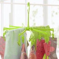 Wholesale New Hanging Dryer Clips Pin Laundry Clothes Hanger Octopus Foldable