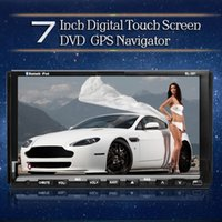 Wholesale 7 quot Android Car DVD Player PC Radio Built in GPS Navi Bluetooth RDS Ipod TV Double din car dvd player for Universal car