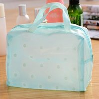 bathing pillow - 2016 Hot Floral Print Transparent Waterproof Makeup Make up Cosmetic Bag Toiletry Bathing Pouch