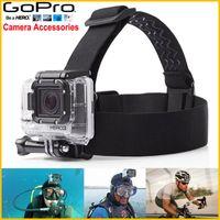 action camera helmet mounted - For GoPro Head Strap Helmet Adjustable Headstrap Sport Camera Mount Belt Mount For Gopro Hero3 sj4000 Action Cameras Accessories