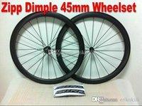 best carbon clincher - 2016 zipp dimple matte best selling mm C full carbon wheel White mark wheelset carbon bicycle A05