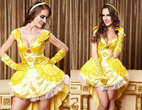 alice in wonderland yellow dress - Hot Selling Plus Size Cosplay Costumes Halloween Queen Costumes For Women Sexy Lingerie Alice In Wonderland Dress CE47