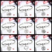 Charm Bracelets Celtic Women's 10 styles Love Letters family member mother father sister daughter bracelets Sweet love Heart Charm Bracelet & Bangle For Women girls