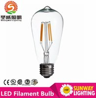 antiques lamp - ST64 W W W Edison Retro Filament LED Bulb E27 V Dimmable Lamp Antique glass Candle Light Vintage Warm White Energy Saving