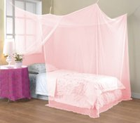 Wholesale Elegant square polyester Mosquito Net Insect home Bed Net mosquito Curtain