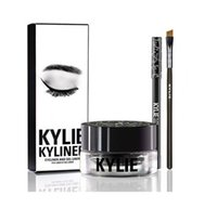 2016 НОВЫЕ Kylie косметику Дженнер Kyliner В черный / коричневый с Гель Eyeliner горшок кисть Бровь энхансеры DHL Free