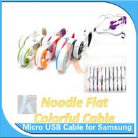 android usb interface - Micro usb Cable Noodle Flat Cable M FT V8 V9 For Galaxy S6 S4 Note Android mm Interface With Bracket Pieces With Opp Package