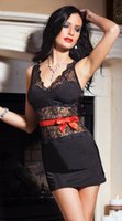 adult sleep suits - sexy lingerie black High grade lace adult sexy pajamas women s sleep skirt suit EB620