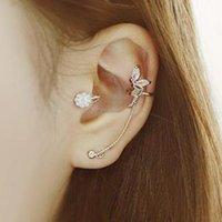 Wholesale New fashion women crystal diamond delicate angel wired earrings earrings ear ear bones clip to a single value