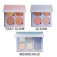 beverly hills - NEW Top Quality Anasta sia Hills Brand GLOW KIT Palette Face Powder Contour Beverly Hills Make Up Kit Golden Silver MOON CHILD