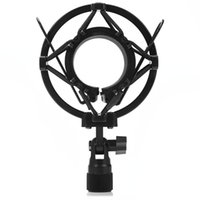 Wholesale SM S Black Universal Microphone Shock Mount for Large Diameter Condenser Mic Stable Instruction with Locking Knob