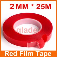adhesive pet film - MM M Strong Acrylic Adhesive PET Red Film Tape Clear Double Side No Trace For iPhone Tablet LCD Screen Glass Repair Tool