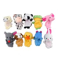 Wholesale Baby Plush Toy Finger Puppets Talking Props animal group