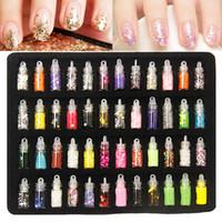 acrylic nail charms - 48 bottles nail art charms kit contain random nail art pearl sequin glitter powder acrylic rhinestone and so on