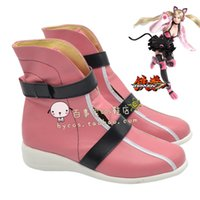 bible costumes - Tekken LILI Neko Bible Cosplay Boots Shoes shoe boot NC494 Custom made Hand made