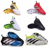 ankle shoes online - 2016 ace purecontrol FG mens High Ankle soccer cleats cheap Soccer shoes original performance Mens ace football boots online