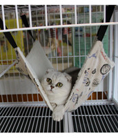 Wholesale Nest breathable cages for pet cats double sided available fabric hanging hammock pet products