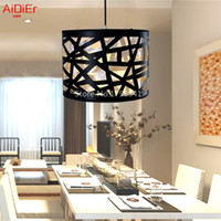 Wholesale Creative black nest lamps modern minimalist restaurant dining Pendan lighting bar personality Pendant Lights free delivery