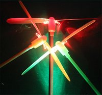 bamboo helicopter - Led toy Bamboo dragonfly Led flash toys LED Flying Lights toys flying helicopter luminous dragonfly for kids