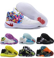 Cheap Kyrie 2 BHM Black History Month Multi-color Bright Crimson Tie Dye All Star Mens Basketball Shoes For Men Sports Sneakers Size 8-12