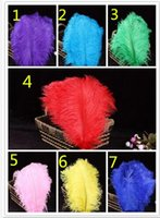 arranged weddings - 2016 cm color Ostrich Feathers Thin rod Plume Centerpiece for Wedding Party Table Decoration feather Flower arranging YM44