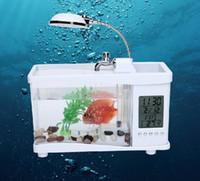 Wholesale Multi function aquariums aquarium USB mini ecological small goldfish turtle cylinder