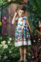 batik sundresses - 2016 Childrens Doll Collar Sleeveless Lady Style A line Dress Girls Hot Sale Pretty Butterfly Cartoon Printed Sundress Kids Princess Dress