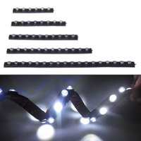 Wholesale 12V LED Daytime Running Light Soft Rubber Chip Bar DRL New Design Car Lighting with Flexible Waterproof Led Strip