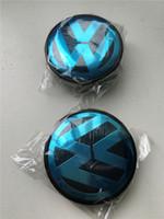 Wholesale 56mm mm ABS Wheel Centre Center Cap Caps Car Badge Emblem Emblems for VW Volkswagen Cheapest Price