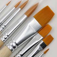 Wholesale 8Pcs Set Fine Hand painted Pen Drawing Art Pen Paint Nylon Brush Art Supplies Gouache Watercolor Pens Papelaria