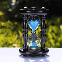 Wholesale 1604 Modern Wooden minute timer sand hourglass home decoration sandglass creative romantic Valentine s gifts cm ampulheta
