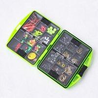 11 * 10cm accessoires de pêche boîte de pêche à la roche cahier caisse pivotant jig crochet pêne flottant perles de pêche outils set