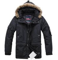 Wholesale new arrive winter fashion casual slim Fur collar Men s down coat men s Outerwear Detachable liner down jacke plus size black