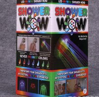 Wholesale SHOWER WOW colorful shower shower LED light flash colorful luminous color shower nozzle color