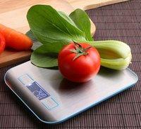 Balanza de cocina Cooking Medir herramientas de acero inoxidable Peso electrónica de LED