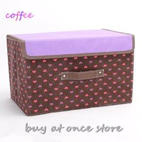 Wholesale 1 piece CM Hot Selling Multi colored beauty storage box storage bag storage container folding clothing storage box