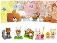 ation figure - Diamond Blocks Bear Brown With D Cartoon ation Figure blocks for kids preschool Intelligence Development Educational toys