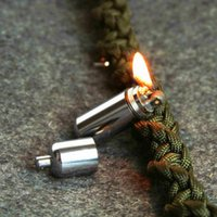 Wholesale Gear Fire Stash Waterproof Survival Lighter Keyring Camping Pocket Key Chain Kit