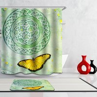 bathroom douche - Latest Fallen Leaves Planet Beauty Bathroom Curtain Thicken Polyester Fabric Crutains Waterproof Mildewproof Rideau Douche