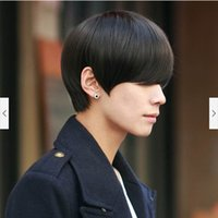 Wholesale New Fashion Quality Cool Korea Design SexySynthetic Hair Male Men Short Straight Black Wig