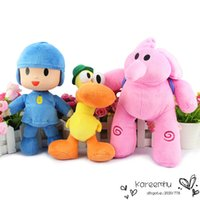 bandai games - 3pcs New Bandai Plush Pocoyo Plush Elly Plush Pato Plush Stuffed Figure inch cm