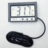 Wholesale LCD Digital Thermometer Multifunctional Temperature Meter display time Indoor Outdoor Tester Diagnostic tool with large screen