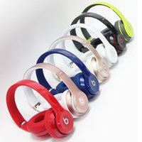 Wholesale New Arrival Refurbished Used Beats solo2 Wireless Headphones Noise Cancel Bluetooth Headphones Headset High quality with seal retail box