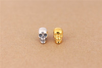 Wholesale 100 silver Skull Beads Brand TS Beads Fashion Skull Charms Fit For Pandora Necklaces bracelets accessory DIY Beads