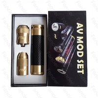 av editions - 2016 Ameravape Carbon Fiber Newest Mod Kit Clone Able kit with Carbon Mod AV Torpedo Cap Combo RDA Limited Edition Fit Battery