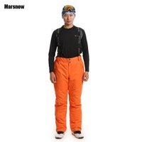 Wholesale Dropshipping Winter outdoor ski pants popular in Russian Thermal Windproof Suspenders snowboarding trousers men waterproof