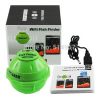 Wholesale Wireless M WIFI Fishfinder Sonar IPHONE IPAD IOS Android Fish Finder F M Rechargeable Lithuim Battery Neoprene Bag